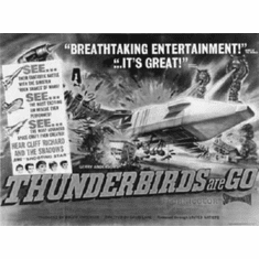 "Thunderbirds Are Go Black and White Poster 24""x36"""