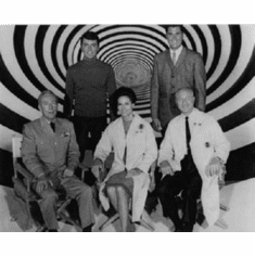"Time Tunnel Black and White Poster 24""x36"""