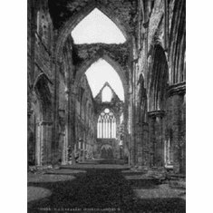 "Tintern Abbey Black and White Poster 24""x36"""