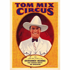 tom mix circus poster 24inx36in