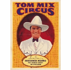 tom mix circus poster 8x10 photo