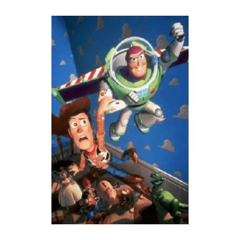 Toy Story Movie Poster Buzz Woody No Text 24inx36in
