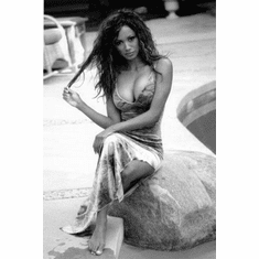 "Traci Bingham Black and White Poster 24""x36"""