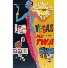 Travel Agency Art Las Vegas Twa 8x10 PrintArt  Photo