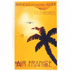 Travel Agency Art Marseille Air France 8x10 PrintArt  Photo