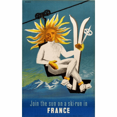 Travel Agency Art Ski France 8x10 PrintArt  Photo
