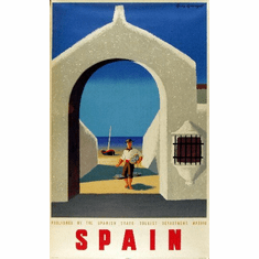 Travel Agency Art Spain 8x10 PrintArt  Photo