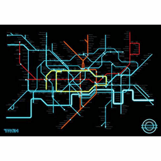 Tron Legacy Movie Poster #A04 Subway Style Map 24inx36in