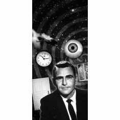 "Twilight Zone Black and White Poster 24""x36"""