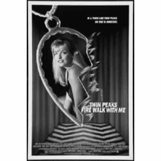"Twin Peaks Black and White Poster 24""x36"""