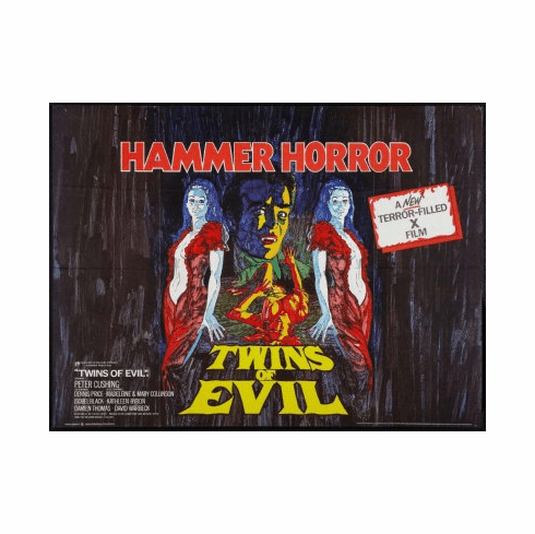 Twins Of Evil Movie Poster 24x36