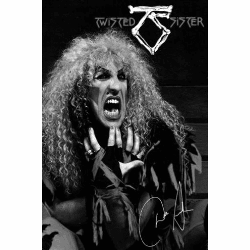 "Twisted Sister Black and White Poster 24""x36"""