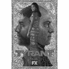 "Tyrant Black and White Poster 24""x36"""