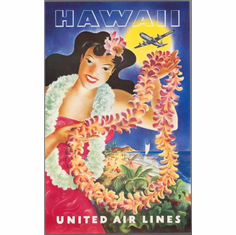 United Airlines Hawaii Poster 24in x36in