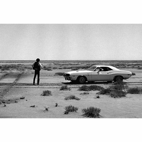 "Vanishing Point Black and White Poster 24""x36"""
