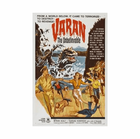 Varan The Unbelievable Movie Poster 11x17 Mini Poster