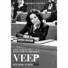 "Veep Black and White Poster 24""x36"""