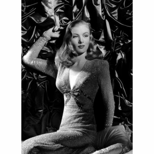 "Veronica Lake Black and White Poster 24""x36"""