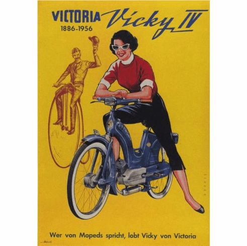 Vicky Motorcycle 1956 Poster 24in x36in