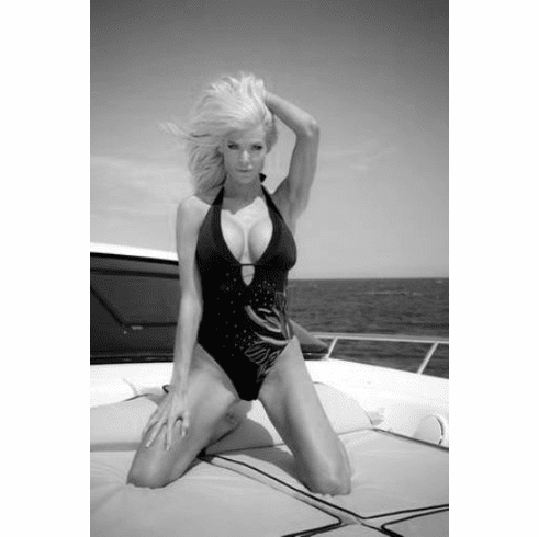 "Victoria Silvstedt Black and White Poster 24""x36"""