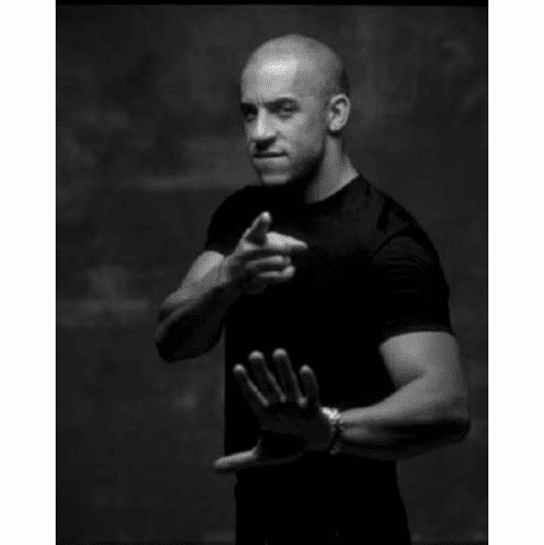 "Vin Diesel Black and White Poster 24""x36"""