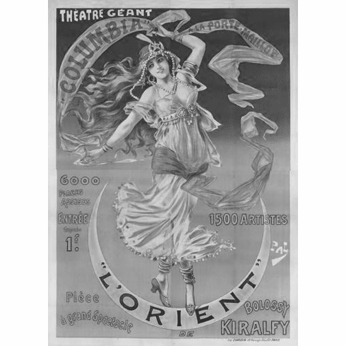 "Vintage Showgirl Advertising Black and White Poster 24""x36"""