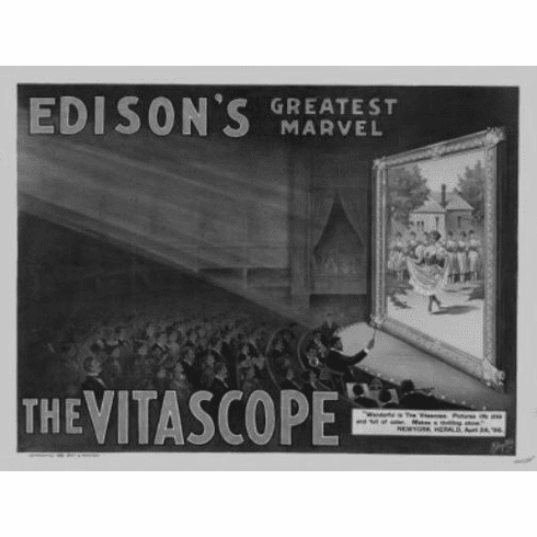 "Vitascope Black and White Poster 24""x36"""