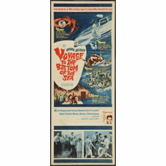 Voyage To The Bottom Of The Sea Movie Poster Insert 14x36 #01