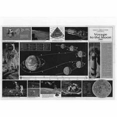 """Voyage To The Moon Black and White Poster 24""""x36"""""""