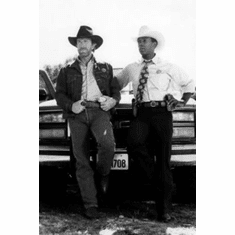 "Walker Texas Ranger Black and White Poster 24""x36"""