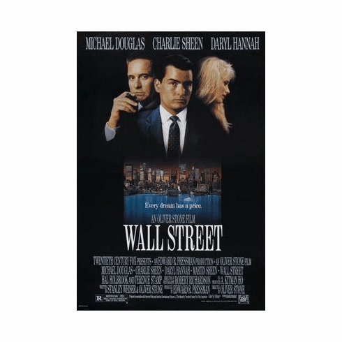 Wall Street Movie Poster 24in x36 in