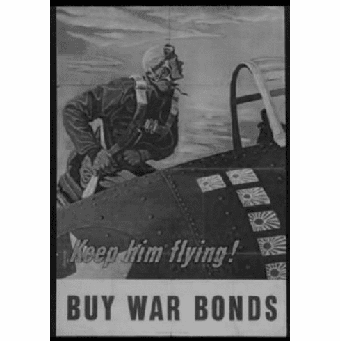 "War Bonds Black and White Poster 24""x36"""