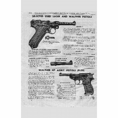 War Pistols Walther P-38 Ad 8x10 PrintArt  Photo