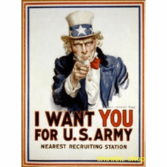War Propaganda Art Uncle Sam 8x10 photo Master Print