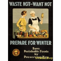 War Propaganda Art Waste Not 8x10 photo Master Print