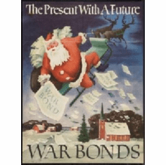 War Propaganda Santa Claus War Bonds 8x10 photo Master Print
