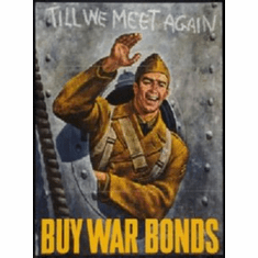 War Propaganda Soldier Waving War Bonds 8x10 photo Master Print
