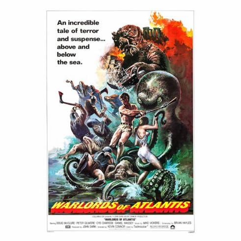 Warlords Of Atlantis Movie Poster 24inx36in Poster