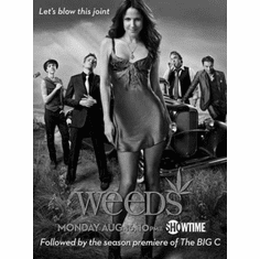 "Weeds Black and White Poster 24""x36"""