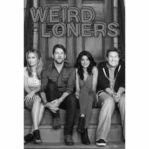 "Weird Loners Black and White Poster 24""x36"""