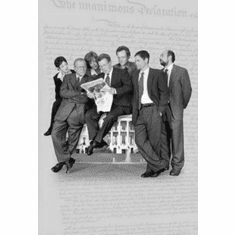"West Wing Black and White Poster 24""x36"""