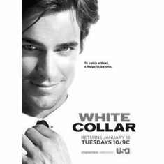 "White Collar Black and White Poster 24""x36"""