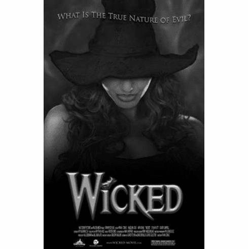 "Wicked Black and White Poster 24""x36"""