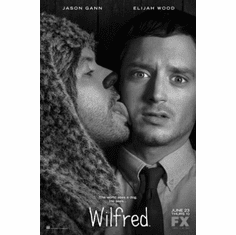 "Wilfred Black and White Poster 24""x36"""