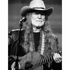 "Willie Nelson Black and White Poster 24""x36"""