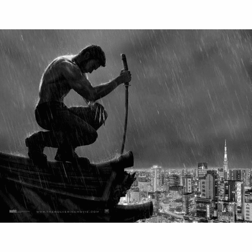 """Wolverine Black and White Poster 24""""x36"""""""