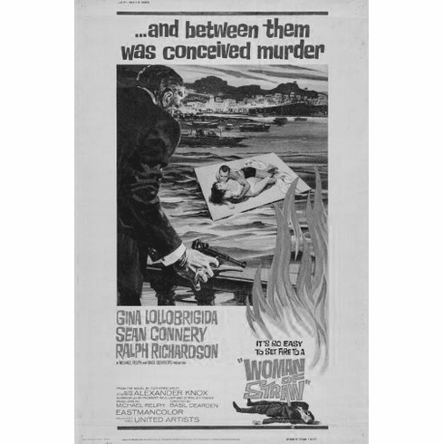 "Woman Of Straw Black and White Poster 24""x36"""