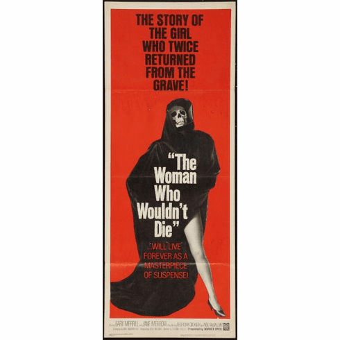 Woman Who Wouldn'T Die The 14x36 Insert Movie Poster