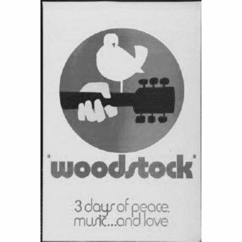 "Woodstock Black and White Poster 24""x36"""