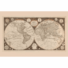 World Map 1799 8x10 photo Master Print #01 Historic Geography Art